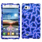 LG Optimus 4X HD Blue Lightning Phone Protector Cover