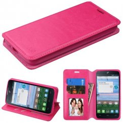 Alcatel Stellar / Tru 5065 Hot Pink Wallet with Tray
