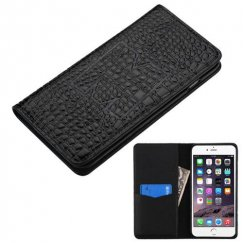 Apple iPhone 6/6s Plus Black Genuine Leather Wallet