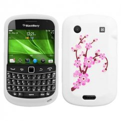 Blackberry Bold 9930 Spring Flowers/White Pastel Skin Cover