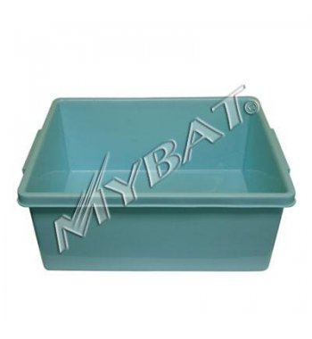 Plastic Storage Box-2# (L=17.25*W=14.00*D=7.25 inch) (Blue)