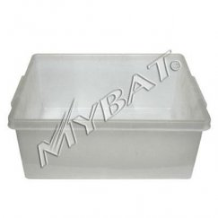 Plastic Storage Box-2# (L=17.25*W=14.00*D=7.25 inch) (Clear)