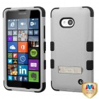 Nokia Lumia 640 Natural Gray/Black Hybrid Case with Stand