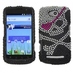 Coolpad Quattro 4G Skull Diamante Case