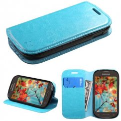 Samsung Galaxy Light Blue Wallet with Tray
