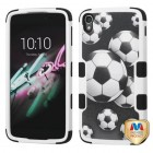 Alcatel One Touch Idol 3 (5.5) Soccer Ball Collage/Black Hybrid Case