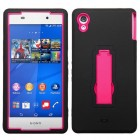 Sony Xperia Z3V Hot Pink/Black Symbiosis Stand Case