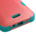 Kyocera Wave / Hydro Air Natural Baby Red/Tropical Teal Hybrid Phone Protector Cover