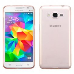 Samsung Galaxy Grand Prime Glossy Transparent Rose Gold Candy Skin Cover