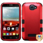Alcatel One Touch Fierce 2 Titanium Red/Black Hybrid Phone Protector Cover