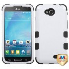 LG Optimus L90 Ivory White/Black Hybrid Case