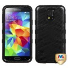 Samsung Galaxy S5 Carbon Fiber/Black Hybrid Phone Protector Cover