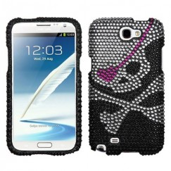 Samsung Galaxy Note 2 Skull Diamante Case