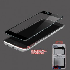 LG K7 Full Coverage Tempered Glass Screen Protector - Black