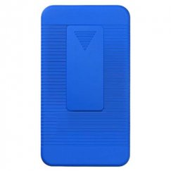 Samsung Galaxy S2 Rubberized Blue Hybrid Holster
