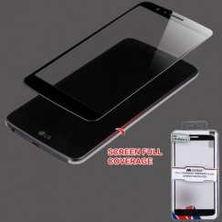 LG G Stylo 3 Full Coverage Tempered Glass Screen Protector/Black