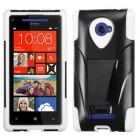 HTC Windows Phone 8x White Inverse Advanced Armor Stand Protector Cover