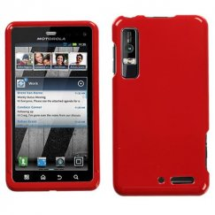 Motorola Droid 3 Solid Flaming Red Case