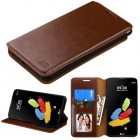 LG G Stylus 2 Brown Wallet(with Tray)
