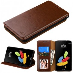 LG G Stylus 2 Brown Wallet with Tray