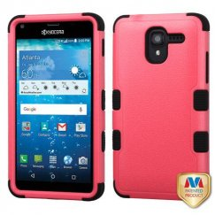 Kyocera Hydro Reach / Hydro View Natural Pink/Black Hybrid Case