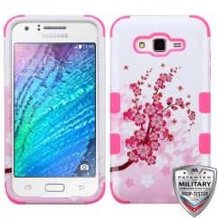 Samsung Galaxy J7 Spring Flowers/Electric Pink Hybrid Case