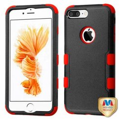 Apple iPhone 7 Plus Natural Black/Red Hybrid Case