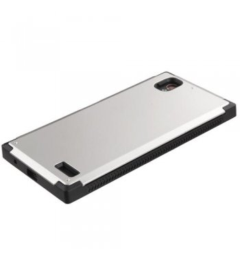 ZTE Warp Elite Silver Inverse Advanced Armor Stand Protector Cover