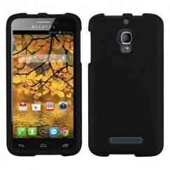 Alcatel One Touch Fierce Black Case - Rubberized