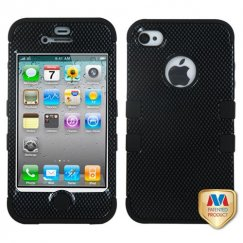 Apple iPhone 4/4s Carbon Fiber/Black Hybrid Case