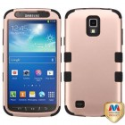 Samsung Galaxy S4 Active SGH-i537 Rose Gold/Black Hybrid Phone Protector Cover