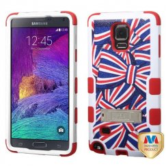 Samsung Galaxy Note 4 American Bows/Red Hybrid Case with Stand