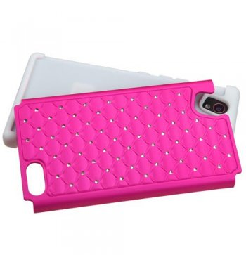 ZTE Warp Elite Hot Pink/Solid White FullStar Case