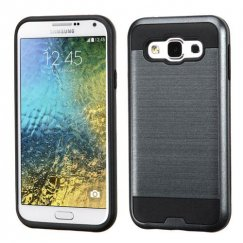 Samsung Galaxy E5 Ink Blue/Black Brushed Hybrid Case
