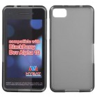 Blackberry Z10 Semi Transparent Smoke Candy Skin Cover - Rubberized