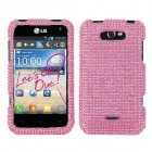 LG Motion 4G Pink Diamante Protector Cover(Diamante 2.0)