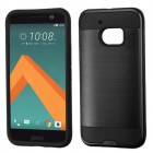 HTC 10 Black/Black Brushed Hybrid Protector Cover