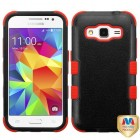 Samsung Galaxy Core Prime Natural Black/Red Hybrid Case