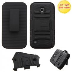 Huawei Union Y538 Black/Black Advanced Armor Stand Case with Black Holster