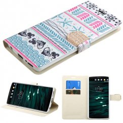 LG V10 Jumping Fishes Diamante Wallet with Diamante Belt