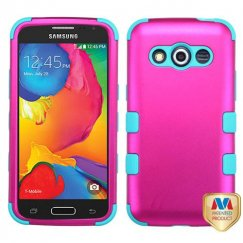 Samsung Galaxy Avant Titanium Solid Hot Pink/Tropical Teal Hybrid Case