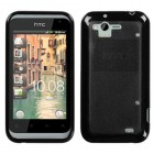 HTC Rhyme Transparent Smoke/Solid Black Gummy Cover