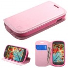 Samsung Galaxy Light Pink Wallet with Tray