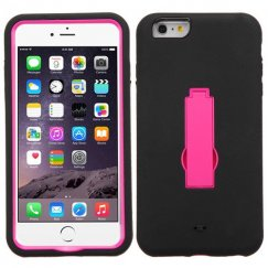 Apple iPhone 6/6s Plus Hot Pink/Black Symbiosis Stand Case