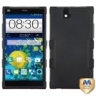 ZTE Grand X Max / Grand X Max Plus Natural Black/Black Hybrid Case