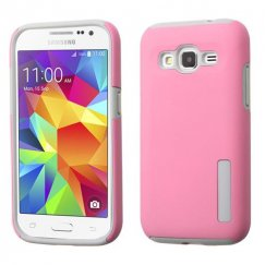 Samsung Galaxy Core Prime Pink/Gray Hybrid Case