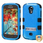 Samsung Galaxy Light Natural Dark Blue/Black Hybrid Phone Protector Cover (with Stand)