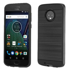 Motorola Moto G6 Black/Black Brushed Hybrid Case
