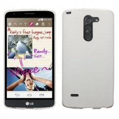 LG G Stylo Semi Transparent White Candy Skin Cover - Rubberized
