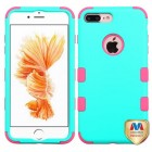 Apple iPhone 7 Plus Rubberized Teal Green/Electric Pink Hybrid Case